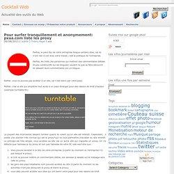 surfer anonymement: pxaa.com liste les proxy