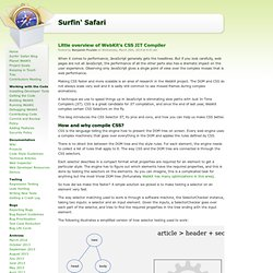 Surfin' Safari - The WebKit Blog