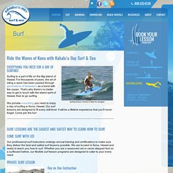 Surfing Lessons and Rentals in Kona Hawaii