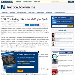 SEO: Try Surfing Like a Search Engine Spider