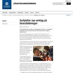 Surfplattor nya verktyg på lärarutbildningen - Göteborgs universitet