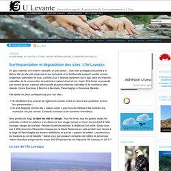 Surfréquentation et dégradation des sites. L'île Lavezzu.