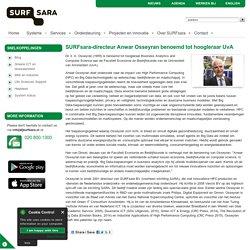 SURFsara-directeur Anwar Osseyran benoemd tot hoogleraar UvA
