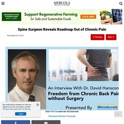 Spine Surgeon Reveals Chronic Pain Treatment