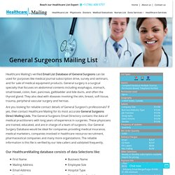 General Surgeons Mailing List