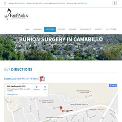 Bunion Surgery in Camarillo