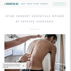 Spine Surgery Essentials Opined by Reputed Surgeons