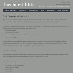 Pelvic Surgery and Impotence: Farnhurst Elite,Devon,UK