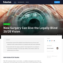New Surgery Can Give the Legally Blind 20/20 Vision