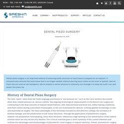 Dental Piezo Surgery