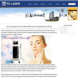 Non-surgical Face Lift With HIFU Face Lifting Machine PZ 9.0_PZ Laser