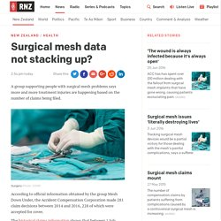 Surgical mesh data not stacking up?