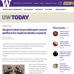 Surgical robots to provide open-source platform for medical robotics research