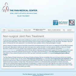 Non-surgical Joint Pain Treatment - The Pain Medical Center
