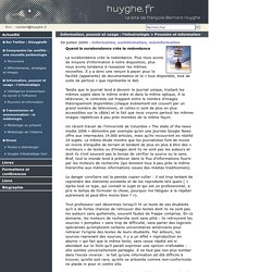 Information, surinformation, mésinformation