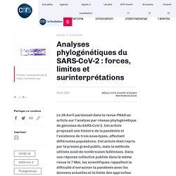 Analyses phylogénétiques du SARS-CoV-2 : forces, limites et surinterprétations