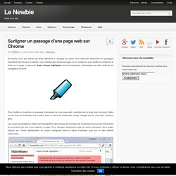 Surligner un passage d'une page web sur Chrome
