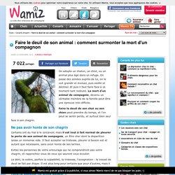 Faire le deuil de son animal : comment surmonter la mort d'un compagnon - Pratique