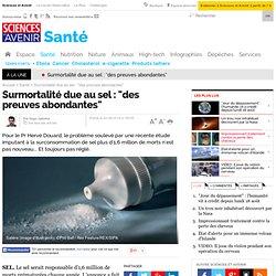 """Surmortalité due au sel : """"des preuves abondantes"""""""