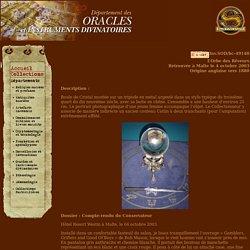 Museum d'histoire surnaturelle - Oracles et Instruments Divinatoires