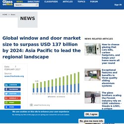 Global window and door market size to surpass USD 137 billion by 2024: Asia Pacific to lead the regional landscape