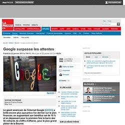 Google surpasse les attentes