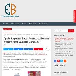 Apple Surpasses Saudi Aramco to Become World's Most Valuable Company - Economicbuddy- World Economic News & Financial Tips