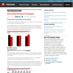 Online Ad Spend Surpasses Newspapers