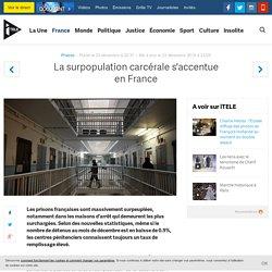 La surpopulation carcérale s'accentue en France