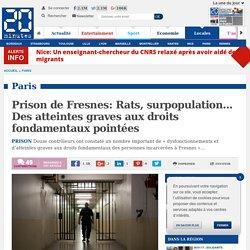 Prison de Fresnes: Rats, surpopulation... Des atteintes graves aux droits fon...