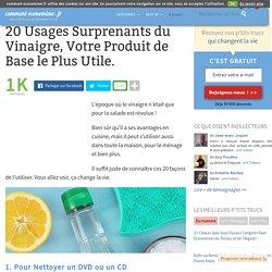 20 Usages Surprenants du Vinaigre, Votre Produit de Base le Plus Utile.