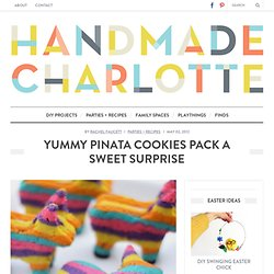 handmade charlotte :: DIY Pinata Cookies :: design for kids and the home