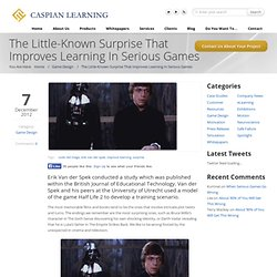 The Little-Known Surprise That Improves Learning in Serious Games