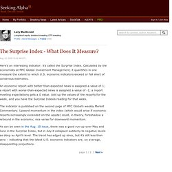 The Surprise Index - What Does It Measure? -