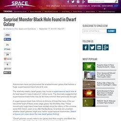 Surprise! Monster Black Hole Found in Dwarf Galaxy