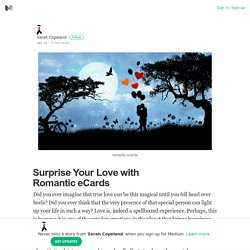 Surprise Your Love with Romantic eCards