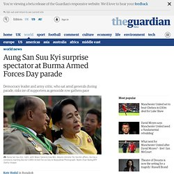 Aung San Suu Kyi surprise spectator at Burma Armed Forces Day parade