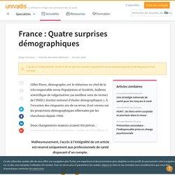 France : Quatre surprises démographiques