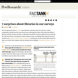 7 surprises about libraries in our surveys