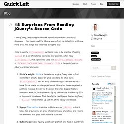 18 Surprises From Reading jQuery's Source Code - Quick Left Boulder Colorado