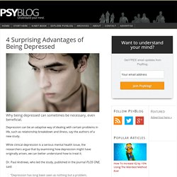 4 Surprising Advantages of Being Depressed