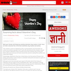 Surprising facts about Valentine's Day Article - ArticleTed - News and Articles