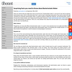 Surprising Facts you need to Know about Bacteriostatic Water