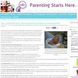 Parenting Starts Here » Ten surprising facts about premature babies and breastmilk