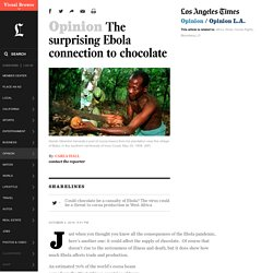 The surprising Ebola connection to chocolate