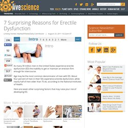 7 Surprising Reasons for Erectile Dysfunction
