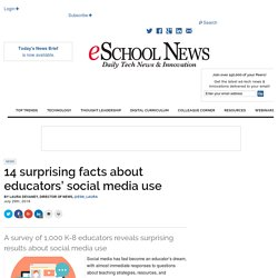 14 surprising facts about educators' social media use