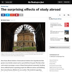 The surprising effects of study abroad