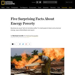 Five Surprising Facts About Energy Poverty