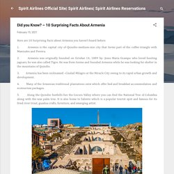 Did you Know? – 10 Surprising Facts About Armenia